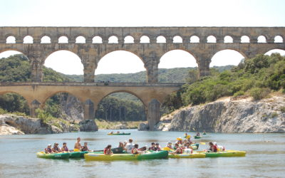 Management of the canoeing activity on the Gardon River